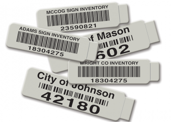 Tabbed Metal Asset Tags